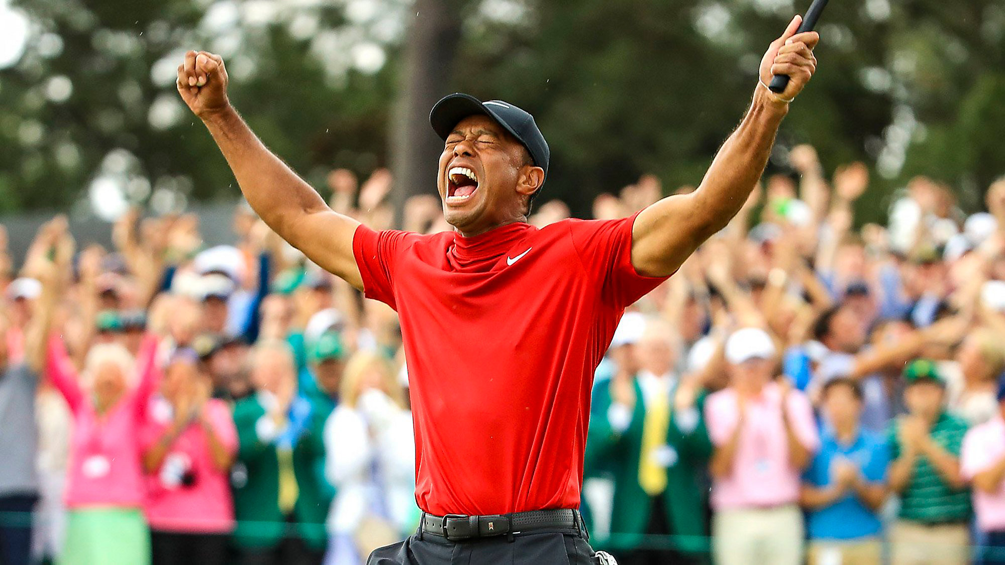47b71d16 Tiger Woods Wins 15th Major, Wins First Masters Since 2005