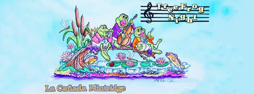 "The ""Tree Frog Night"" float will feature three frogs playing instruments"