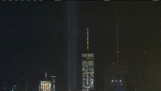 9  11 memorial museum tests out  u0026 39 tribute in light u0026 39