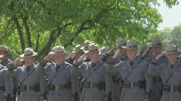 State Troopers Remember the Fallen, Pray for Another