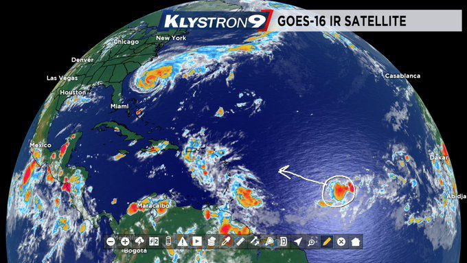 Tropical Depression Forms Over the Central Tropical Atlantic