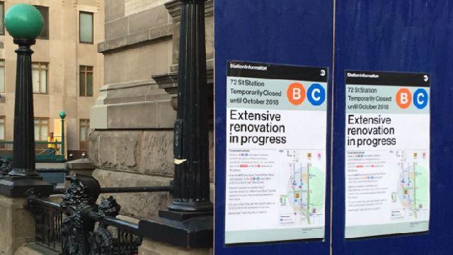 72nd Street Subway Map.Mta Begins 72nd Street Subway Station Repairs