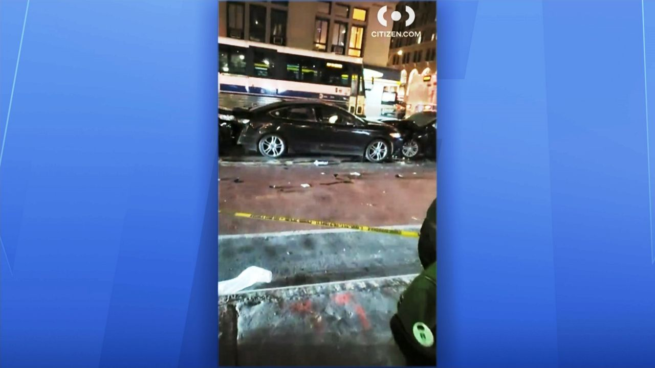 NYPD: 7 Injured, 2 Critically, in Midtown Car Crash