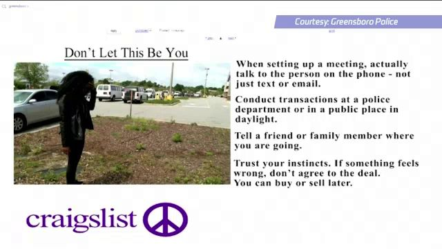 Greensboro Police Warn Public About Craigslist Dangers In New Video