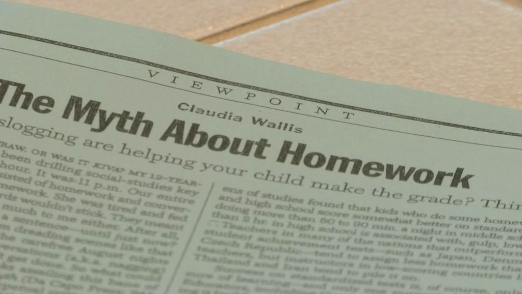 the myth about homework claudia wallis