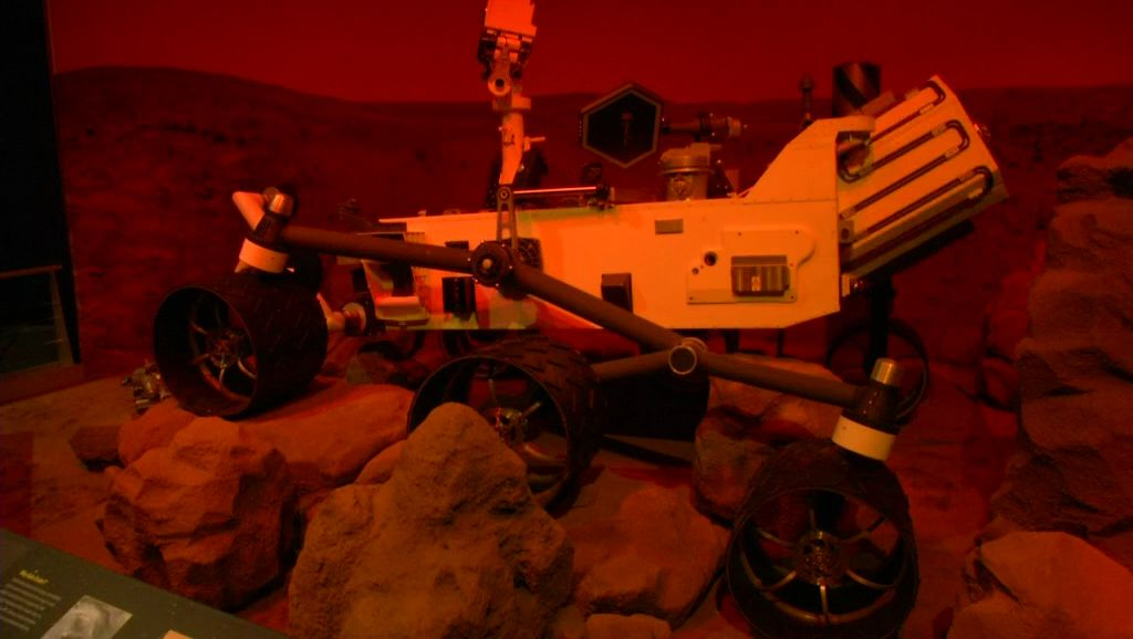 Space Exhibit Brings Mars Rover, Smell of Moon, and More to Bullock