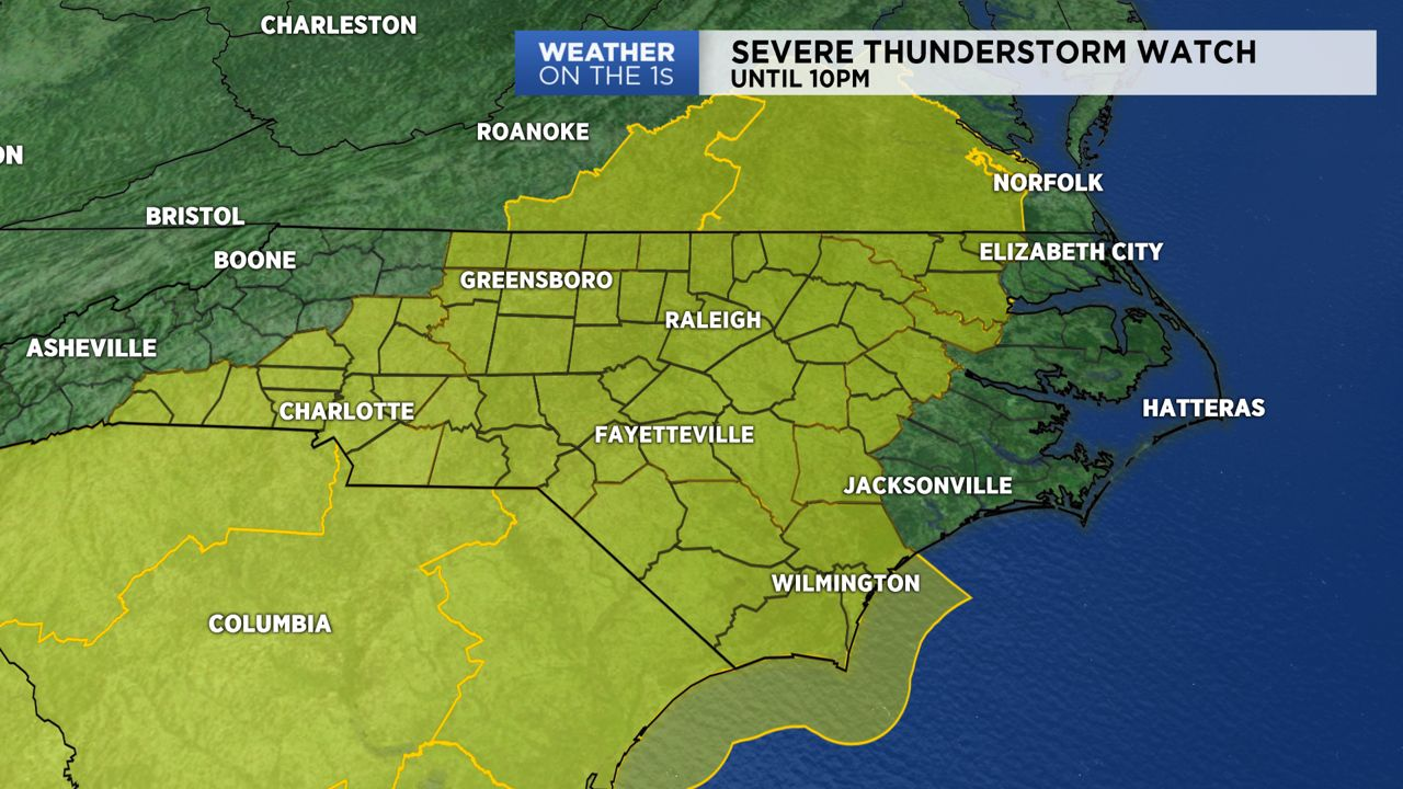 Severe Thunderstorm Watch Issued For Much Of North Carolina