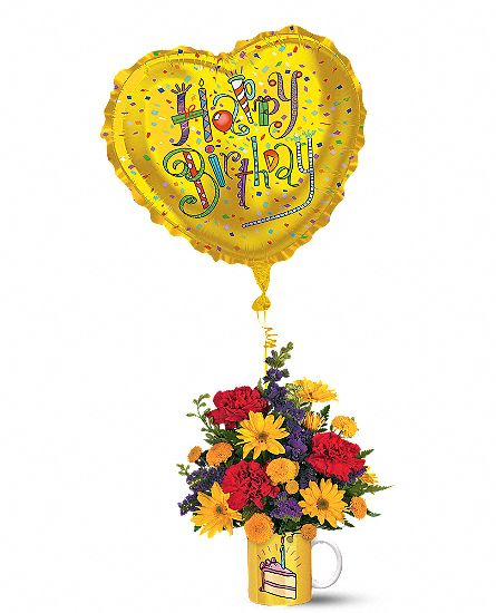 Say Happy Birthday With Flowers In A Birthday Bouquet