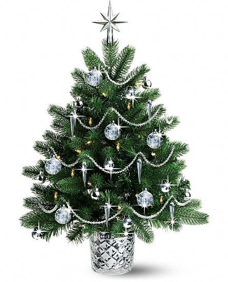 Small Crystal White Christmas Tree Decorations