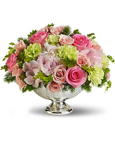 Teleflora's Garden Rhapsody Centerpiece Flowers, Teleflora