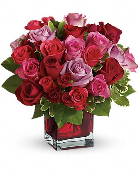 Madly in Love Bouquet with Red Roses by Teleflora Flowers ...