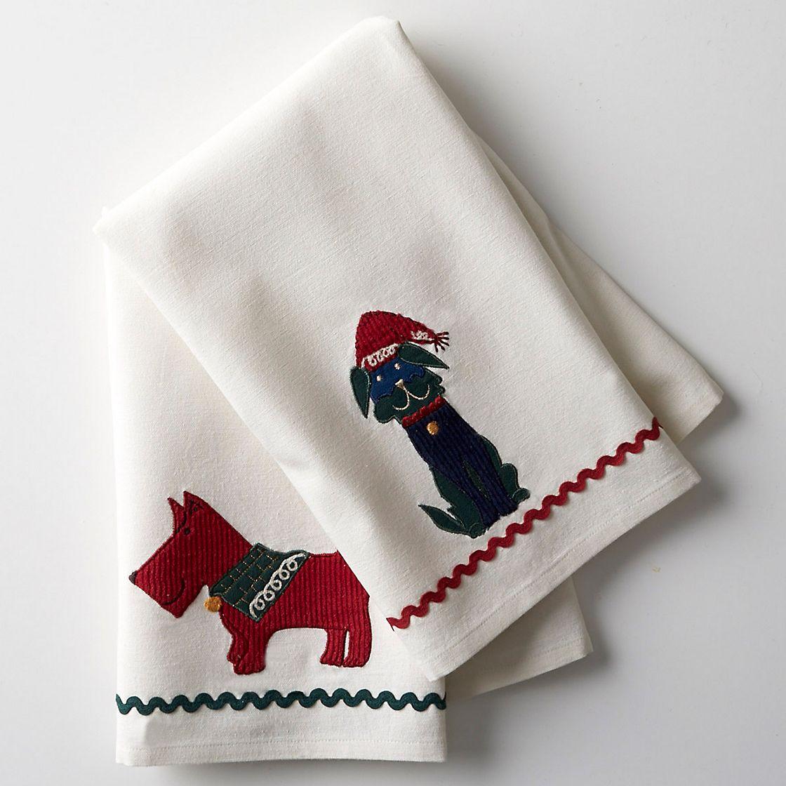Christmas Kitchen Towels At Walmart: Dog Holiday Kitchen Towels