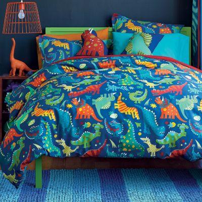 Dino Mite Percale Kids Duvet Cover Company Kids