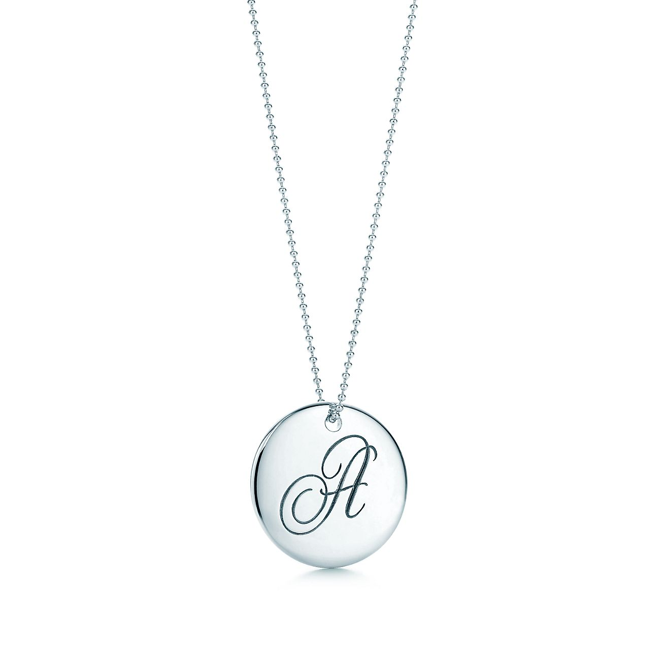 c44530e26 ... tiffany notes letter a round pendant in sterling silver. tiffany co. ...