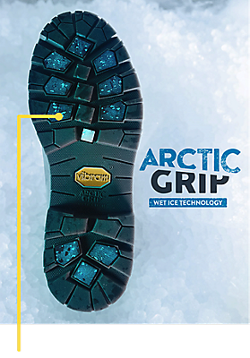 ae4a3f12515 ARCTIC GRIP VIBRAM OUTSOLE. MAXIMUM GRIP ON
