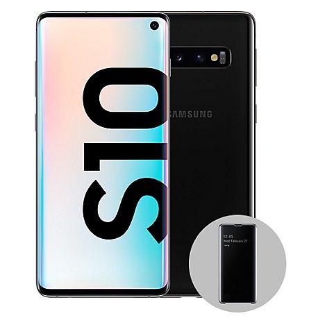 d04673d2cba Samsung Galaxy S10 + Clear View Cover Negro, precio y ...