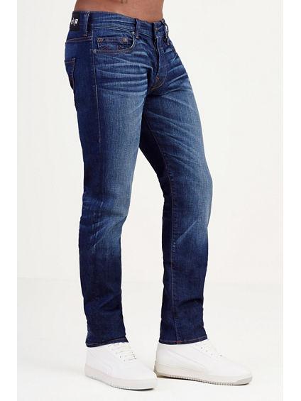 True Religion x Russell Westbrook Mens Rocco Skinny Jeans (Dark Desert Palms)