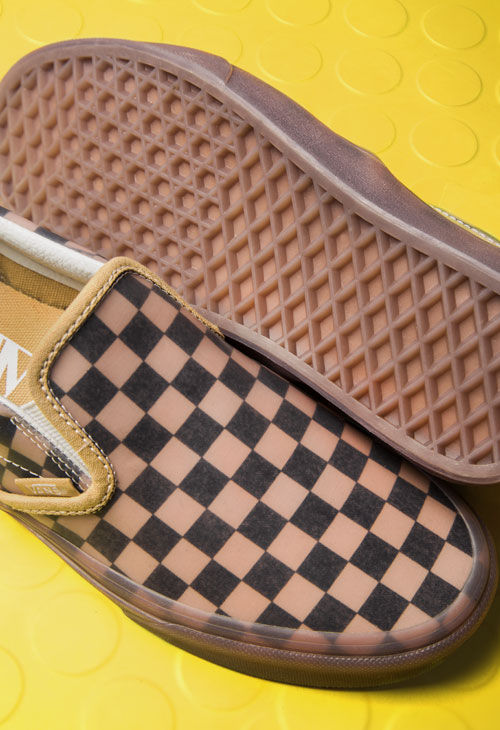 c86a40405414 TRANSLUCENT RUBBER. Fashion meets checkerboard. One of our iconic  silhouette in two bright colourways to let the light come in.