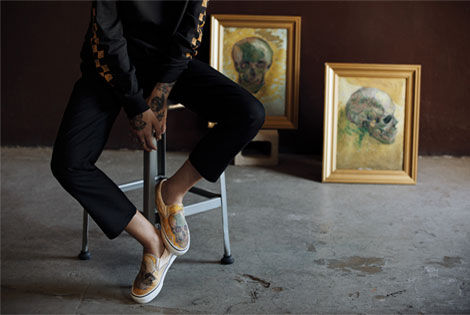 Almond Blossom Van Gogh Vans, Men's Fashion, Footwear