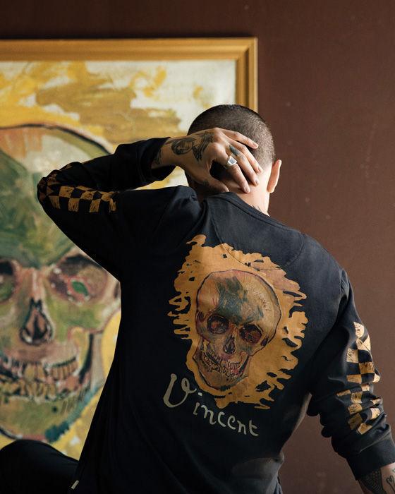 Vans x Van Gogh skull slip on, Men's Fashion, Footwear