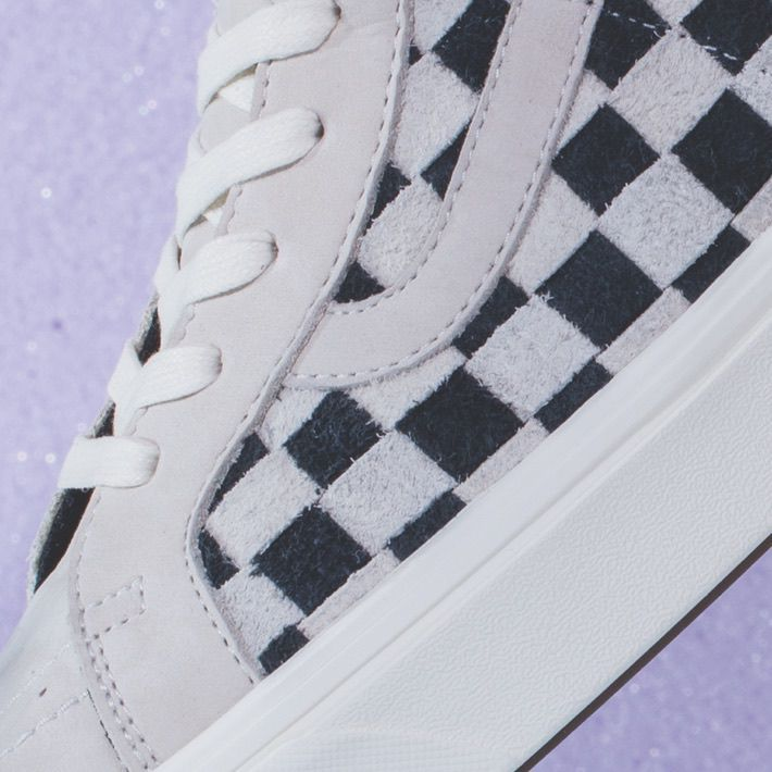 eda83098eaa836 Sk8-Hi Reissue LX. Available in  (Hairy Suede Nubuck) Racing Red Marshmallow  Checkerboard
