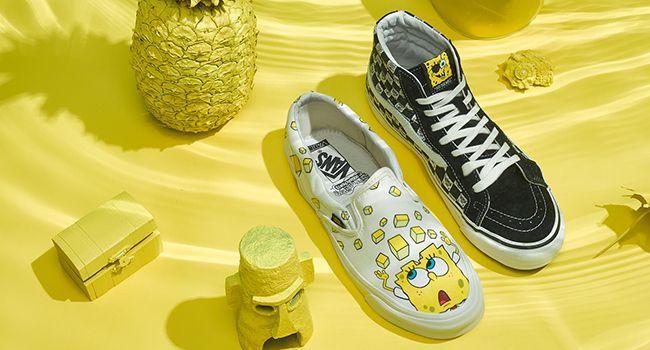 Vans Slip on Spongebob Yellow In Checkerboard Block
