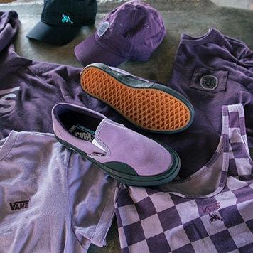 Vans Shoes Slip On Lizzie Armanto Purple