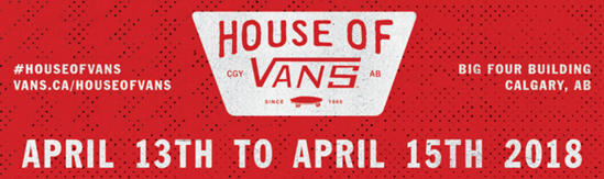 29bd5186f2 Vans is pleased to announce that House of Vans will be coming to Calgary