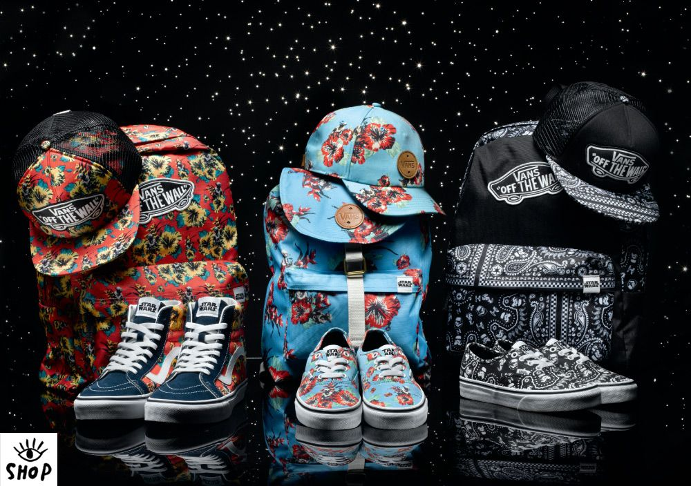 star wars vans chaussures and backpack