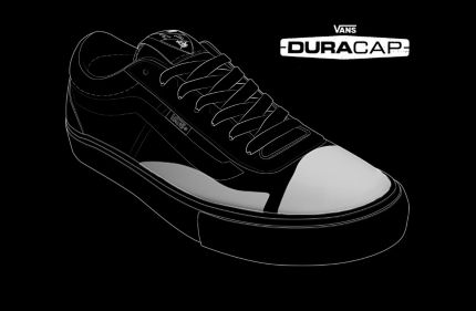 7ea3b69a91 The added DURACAP rubber reinforcement underlays in high-wear areas are  engineered to withstand the abuse of Vans Pro Skate