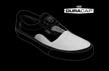 470b5514d7 The added DURACAP rubber reinforcement underlays in high-wear areas are  engineered to withstand the abuse of Vans Pro Skate