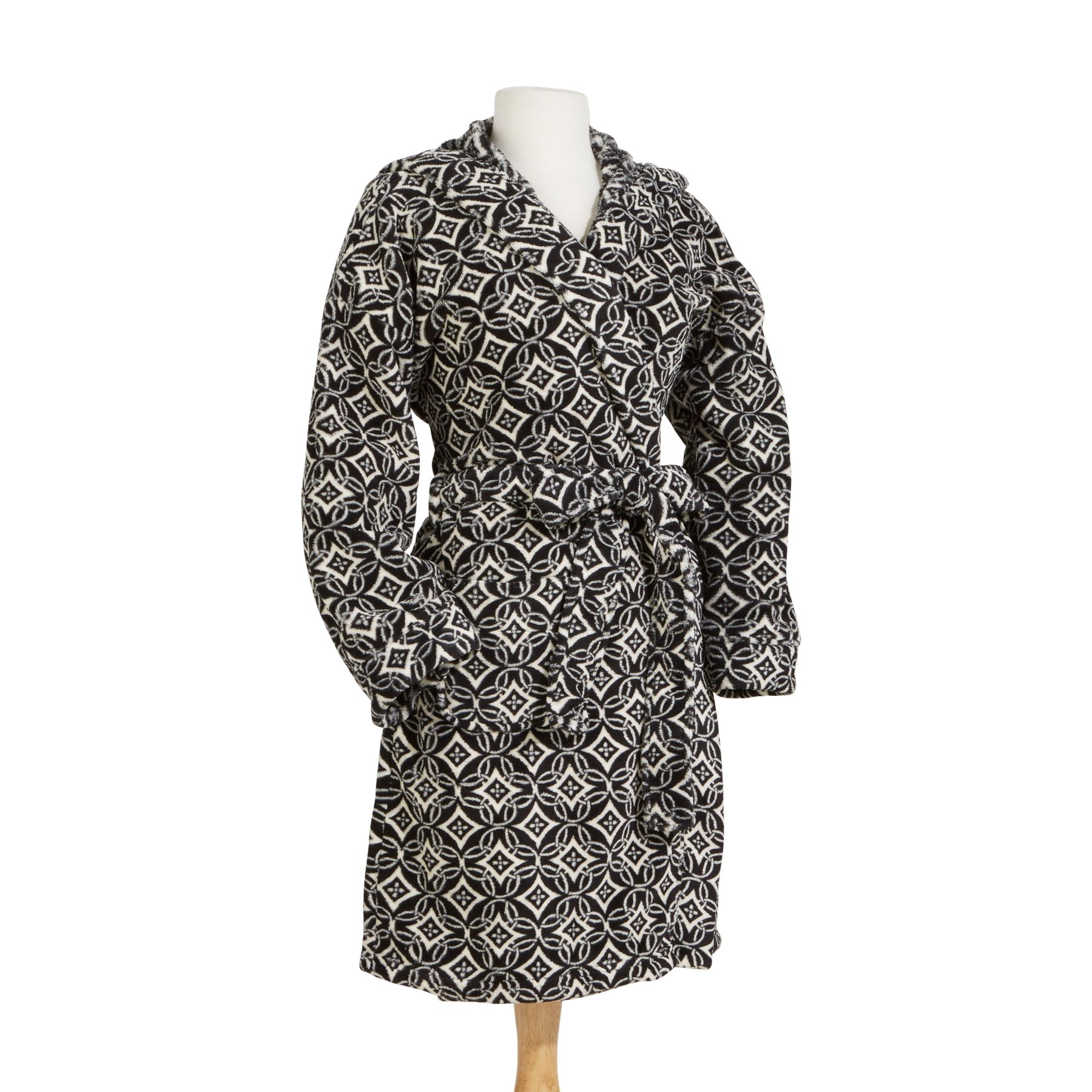 Vera Bradley Hooded Fleece Robe