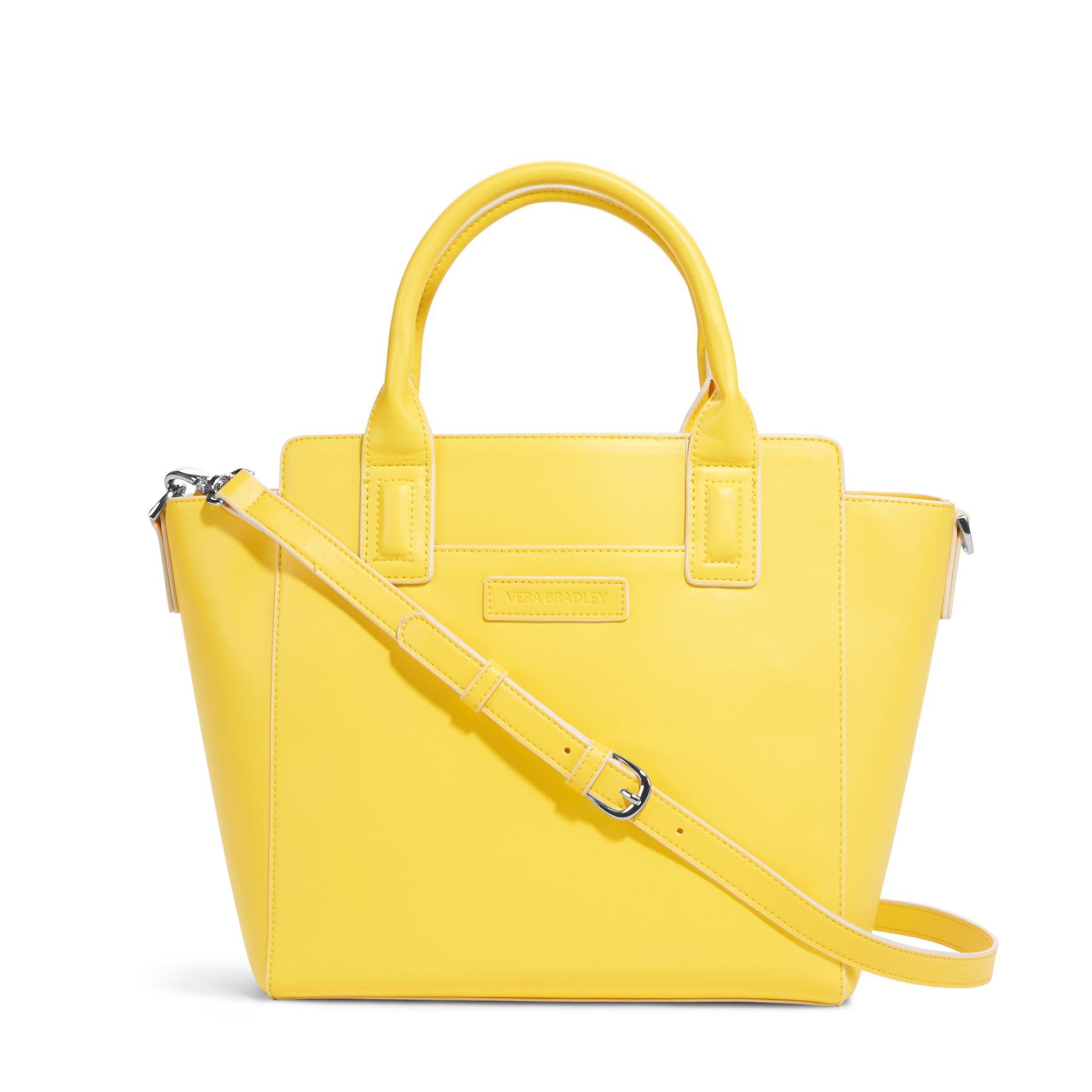 Vera Bradley Faux Leather Satchel Bag   eBay