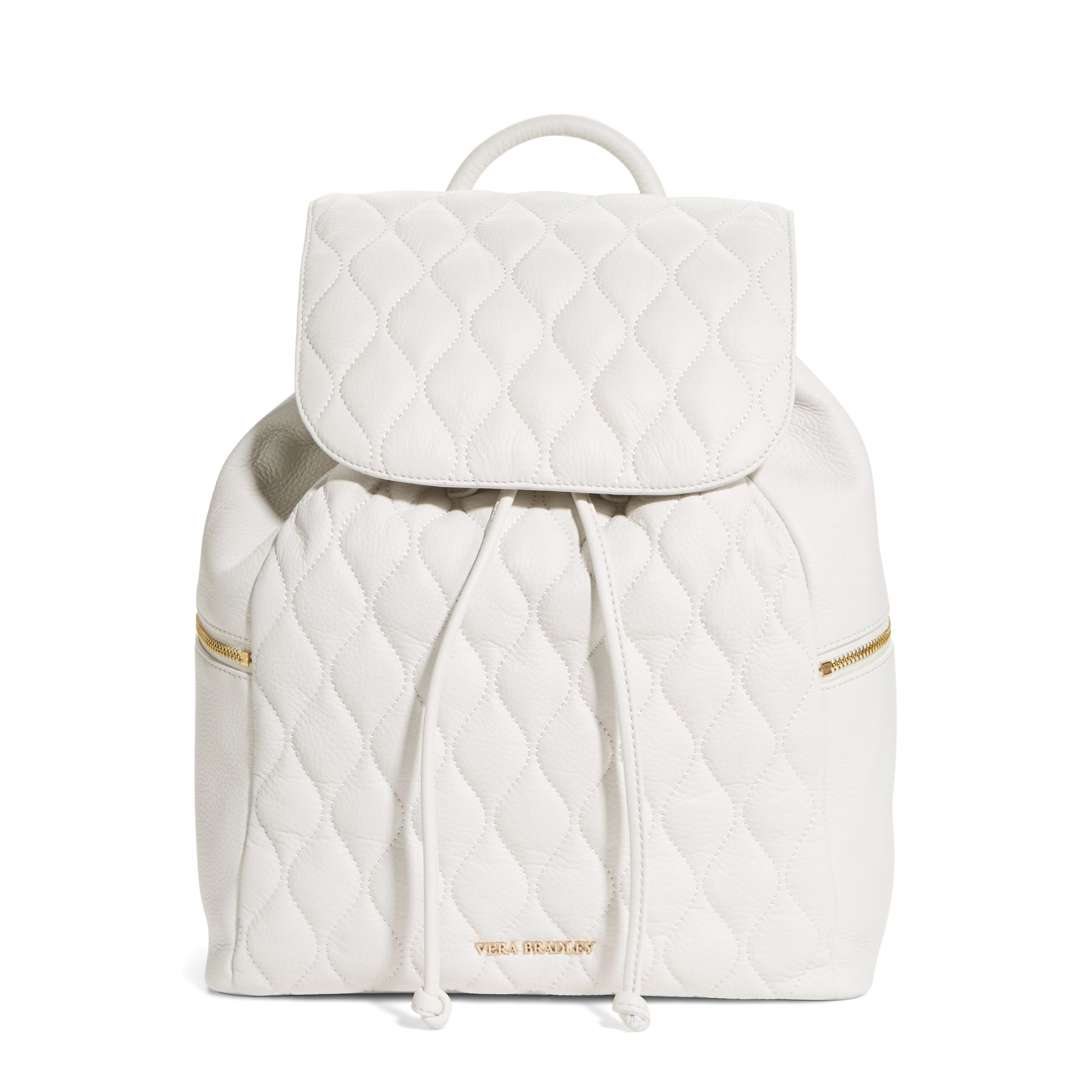 Vera Bradley Quilted Leather Amy Backpack Purse White | eBay