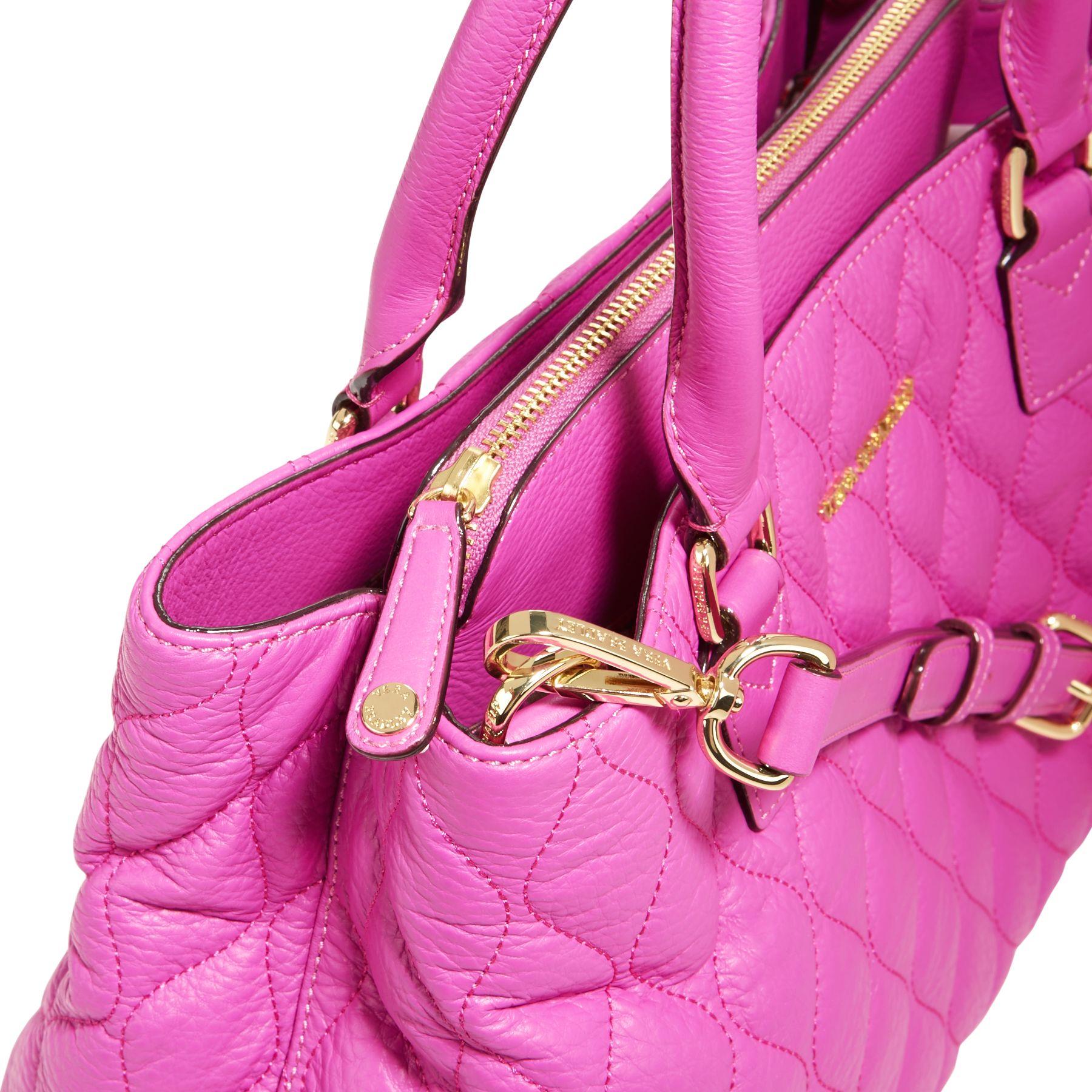Vera Bradley Quilted Leather Emma Satchel Bag Ebay