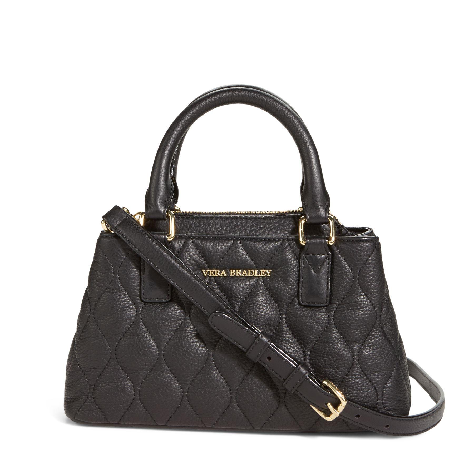 Vera Bradley Quilted Leather Emma Mini Crossbody Bag Ebay