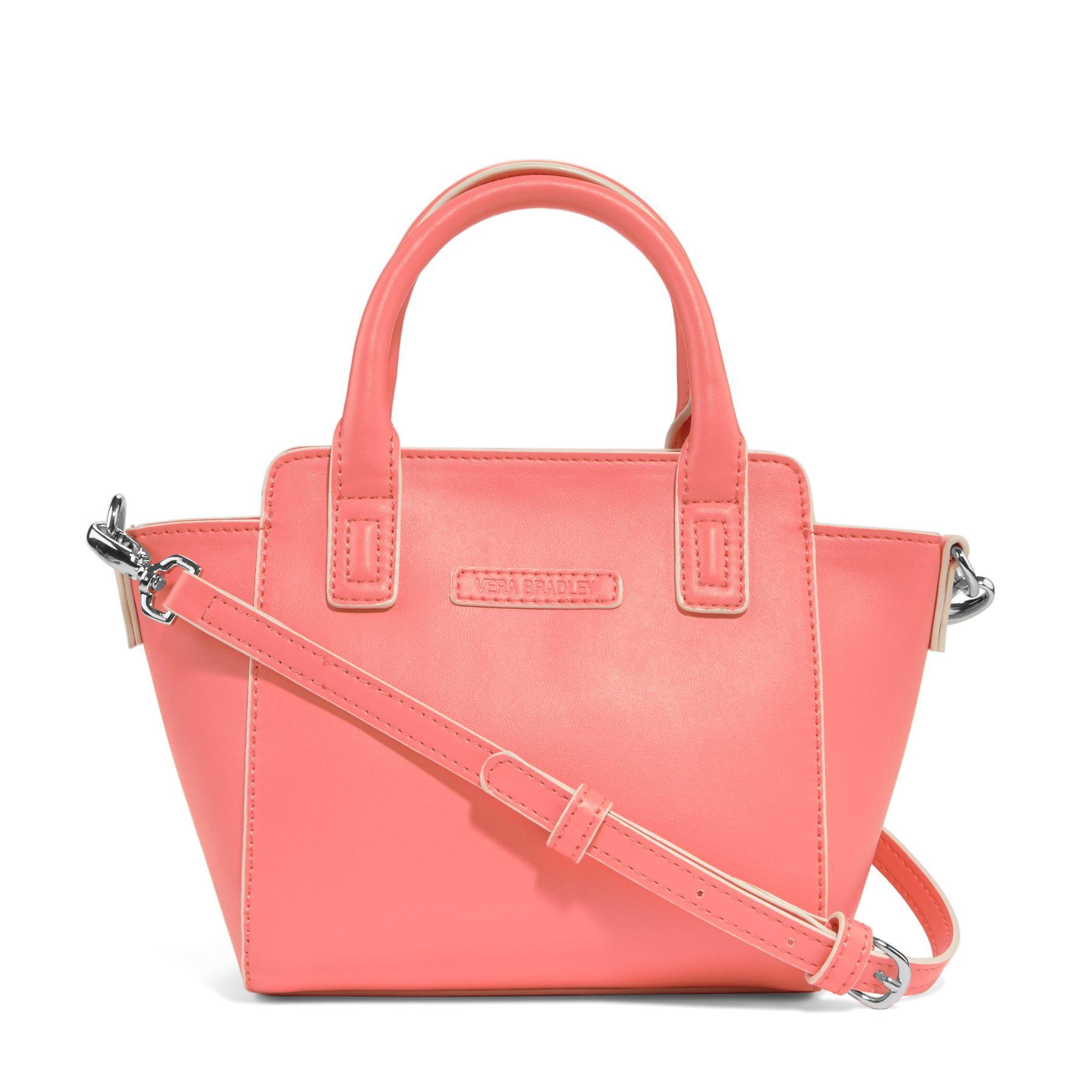 Vera Bradley Faux Leather Mini Crossbody Satchel Bag | eBay