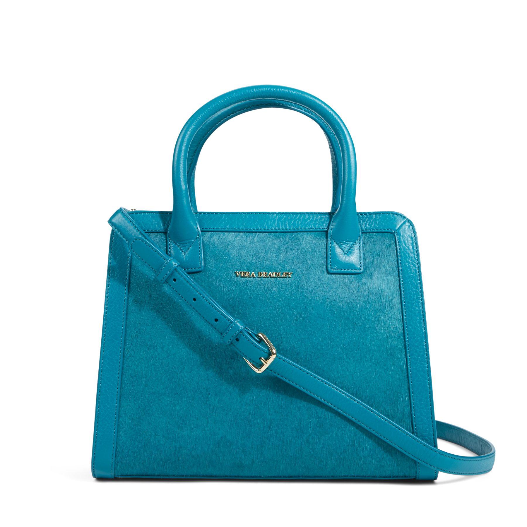 Vera Bradley Leather Natalie Satchel Bag Ebay