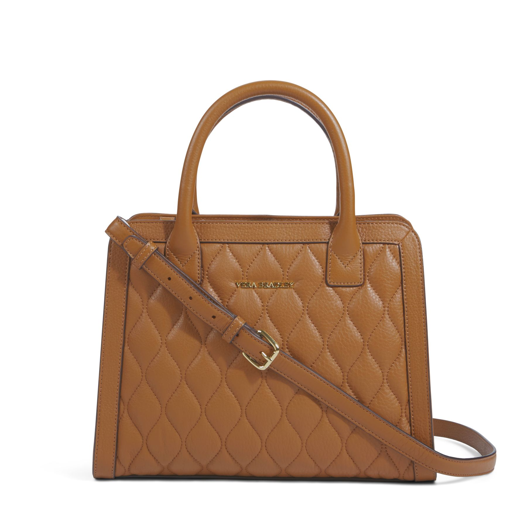 Vera Bradley Quilted Leather Natalie Satchel Bag Ebay