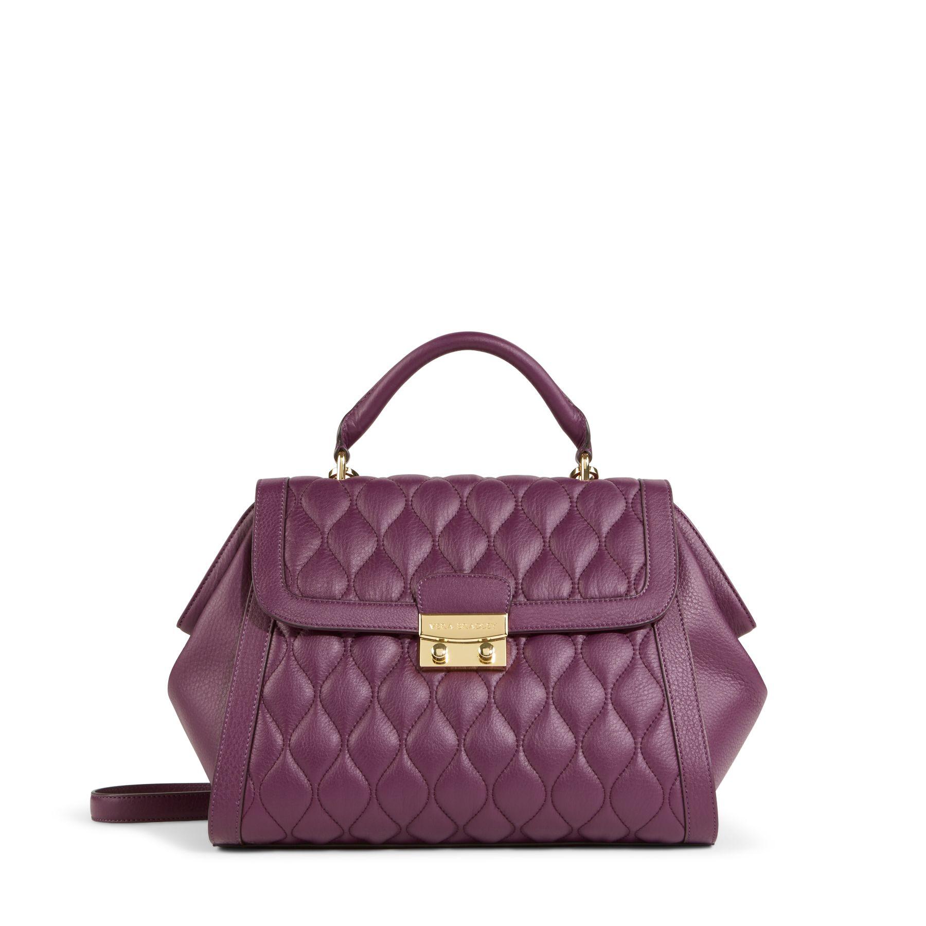 Vera Bradley Quilted Leather Stella Satchel Bag