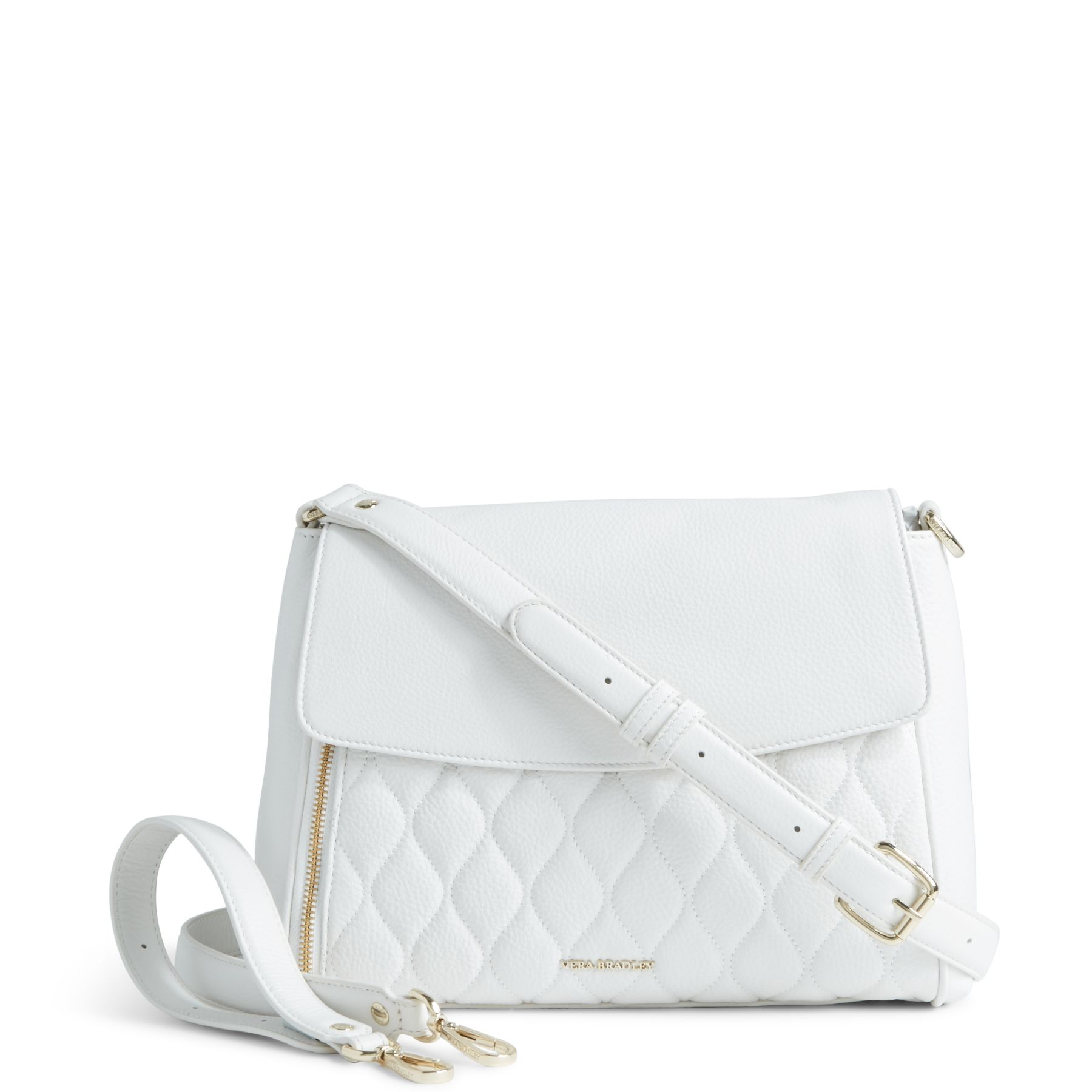 Vera Bradley Quilted Leather Cara Convertible Bag In White