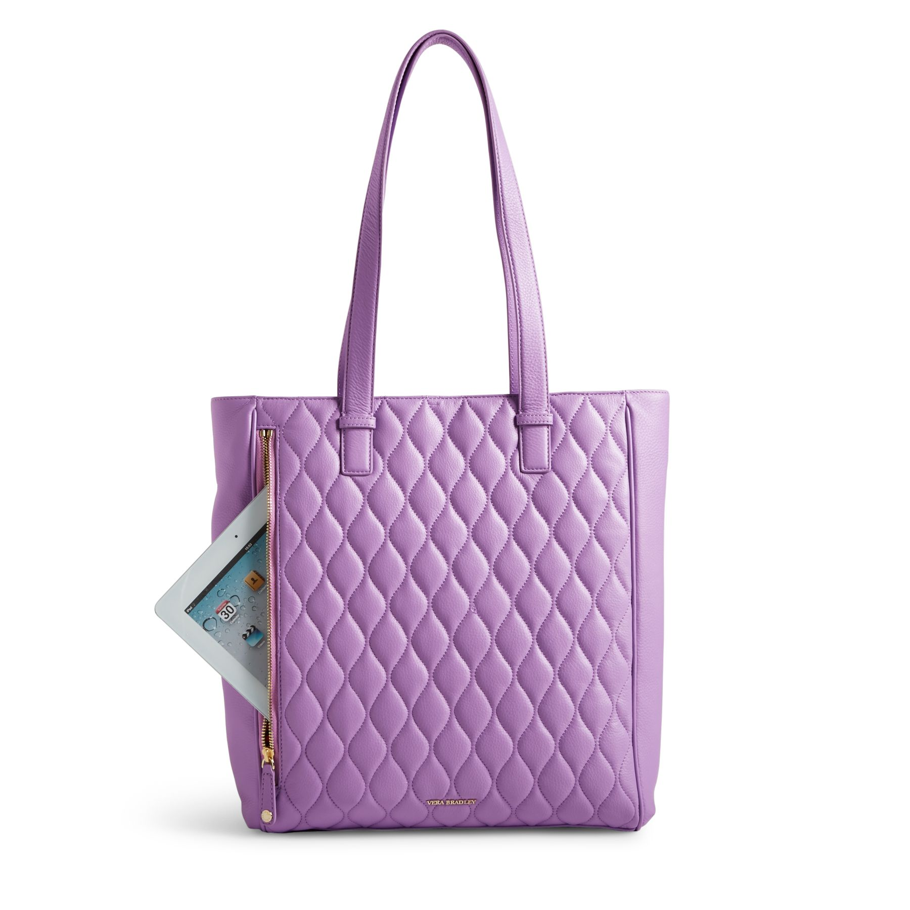 Vera Bradley Quilted Leather Leah Tote Bag Ebay