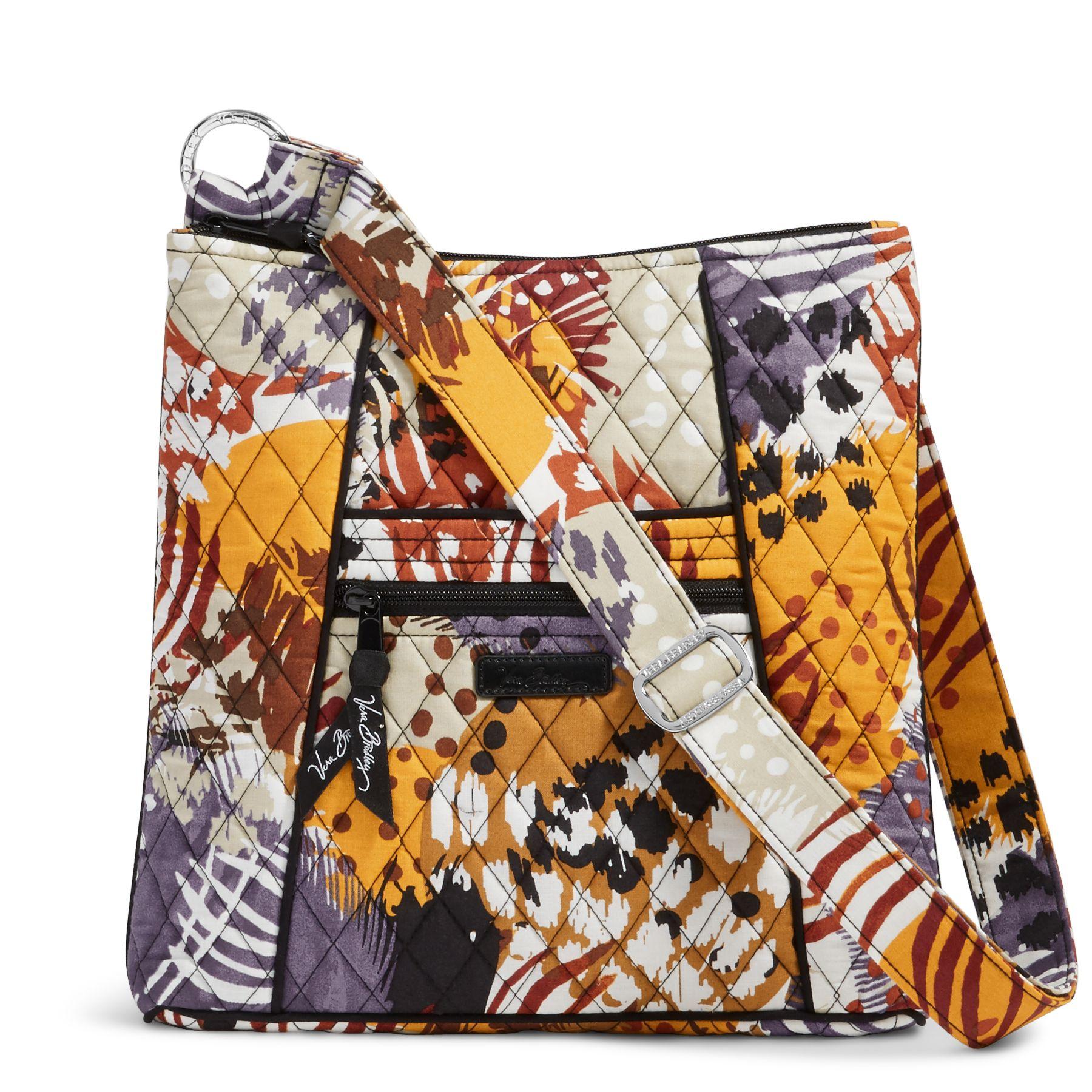 Vera Bradley Painted Feathers Large Hipster Crossbody Purse Handbag ... 1fe58e453c7c9
