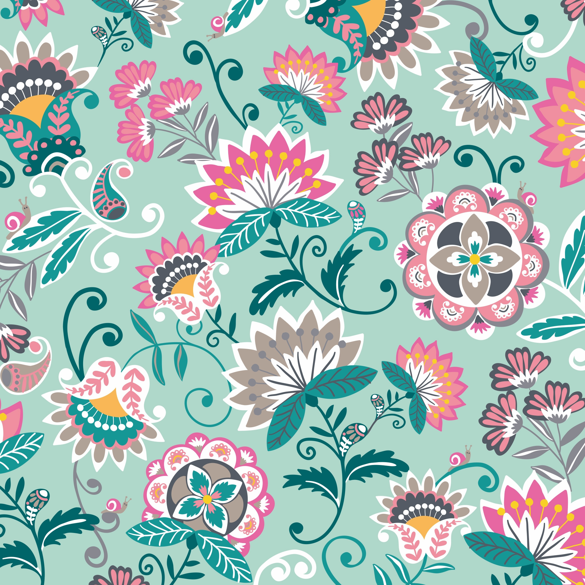 New Pattern Sneak Peek Mint Flowers Summer 2019 Vera Bradley Blog