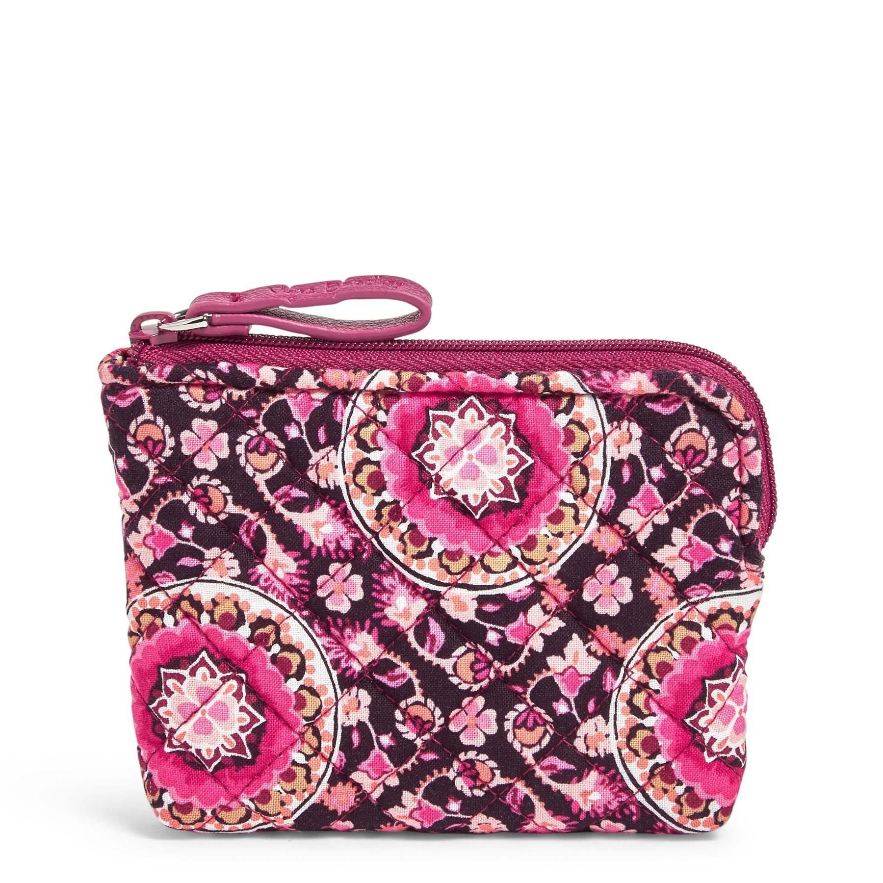 Vera Bradley Coin Purse, Pink, Raspberry Medallion (886003619940 Accessories) photo