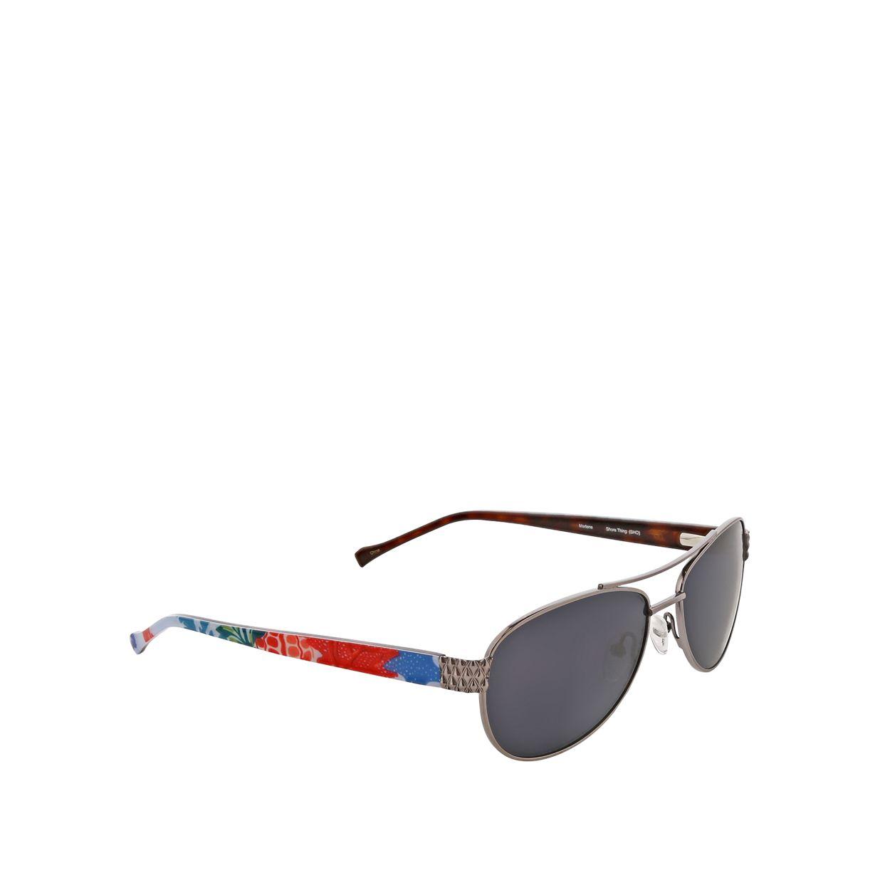 4134f9983 ... Image of Marlene Polarized Aviator Sunglasses in Stitched Flowers