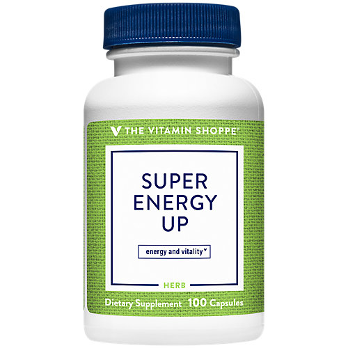 The Vitamin Shoppe Super Energy Up, Adaptogen that Supports Energy and Vitality, With Vitamin B12 (100 Capsules)