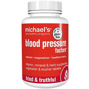 Blood Pressure Factors (180 Tablets) by Michaels Naturopathic ...