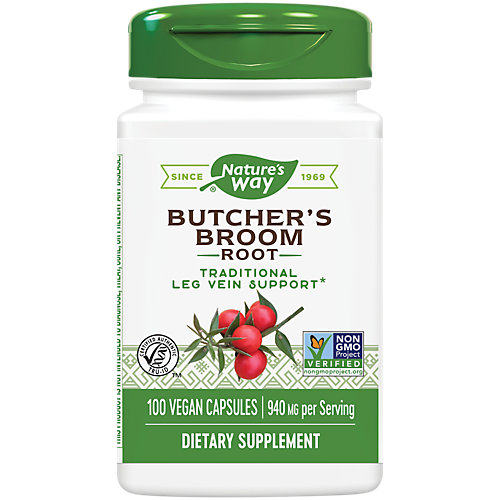 Butcher's Broom Root with Saponins 470 MG (100 Capsules)