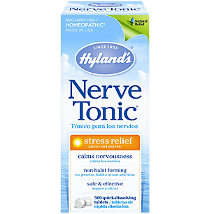 Nerve Tonic Tablets - Homeopathic Medicine for Stress Relief (500 Tablets)